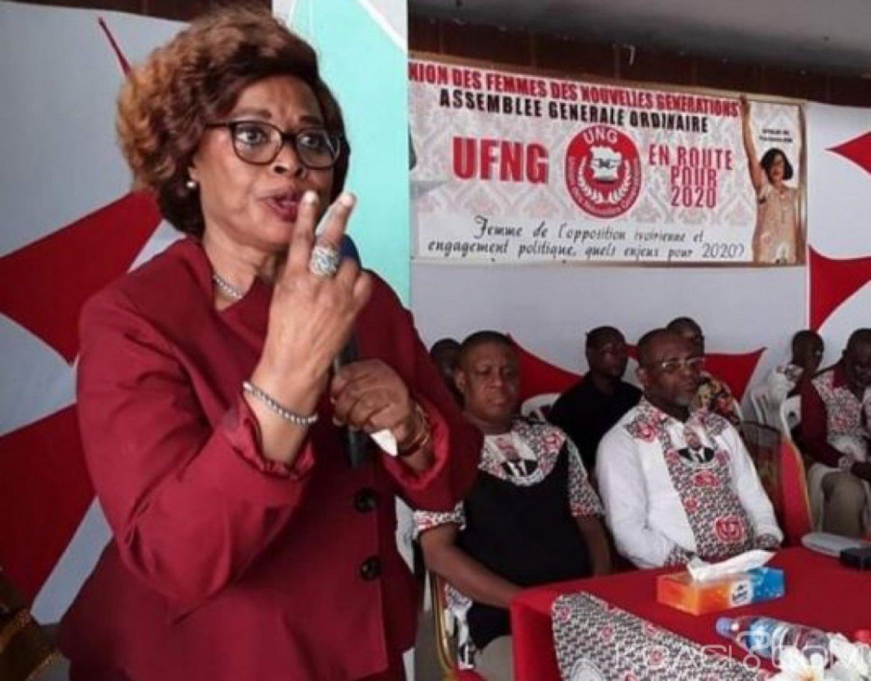 Côte d'Ivoire : Odette Lorougnon aux femmes de l'UNG «il faut une grande union des femmes de la gauche pour la reconquête du pouvoir»