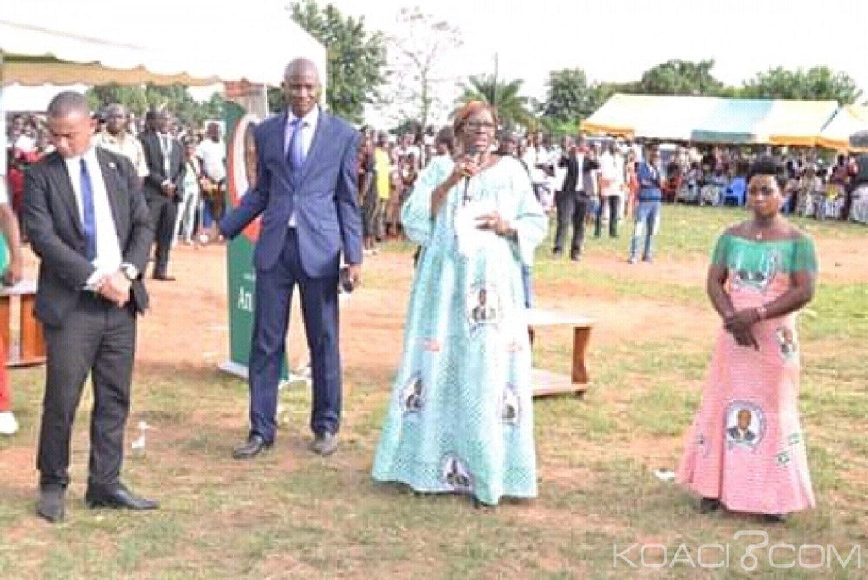 Côte d'Ivoire : À Facobly pour l'investiture du maire,  Kandia promet la réhabilitation du Lycée de la ville