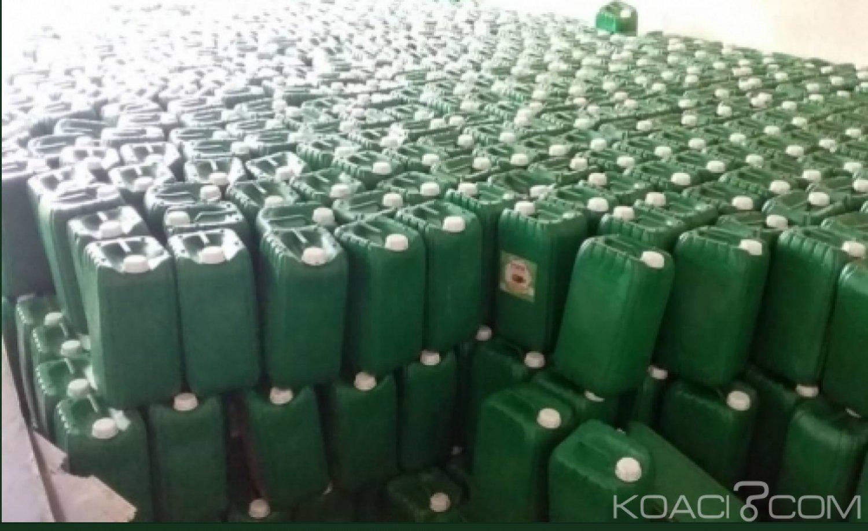 Côte d'Ivoire : Des  bidons d'huile impropres à la consommation et prêts à être écoulés sur le marché saisis