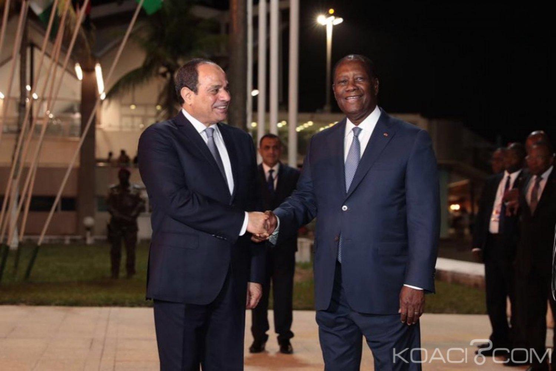 Côte d'Ivoire : Le président Egyptien,  Abdel Fattah AL SISI est arrivé à Abidjan