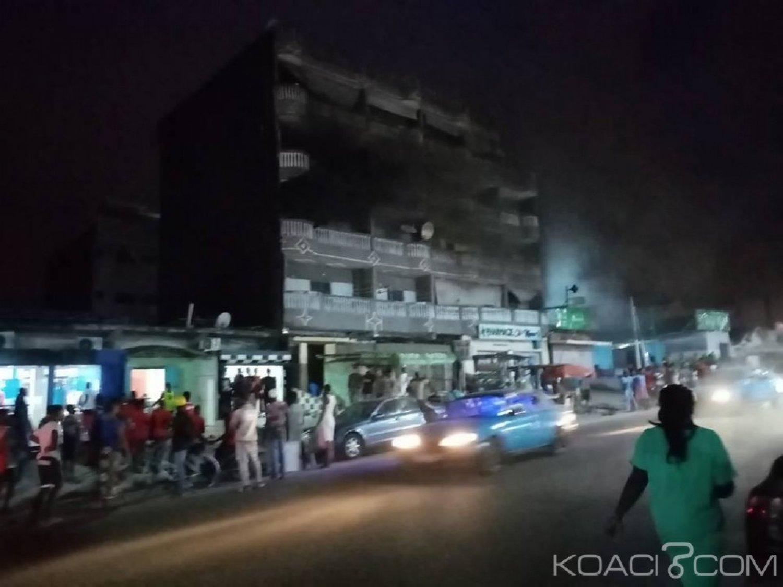 Côte d'Ivoire : A Yopougon, un immeuble en feu