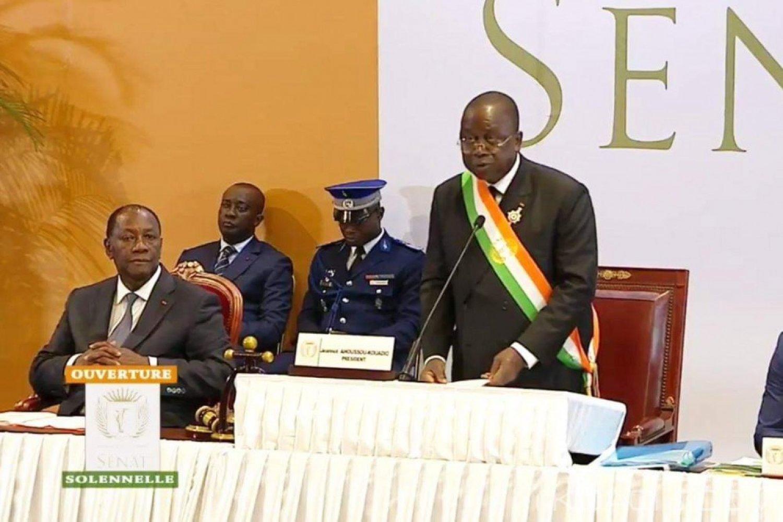 Côte d'Ivoire : Sénat, depuis Yamoussoukro, Ahoussou Kouadio appelle les ivoiriens à se rassembler autour du pays