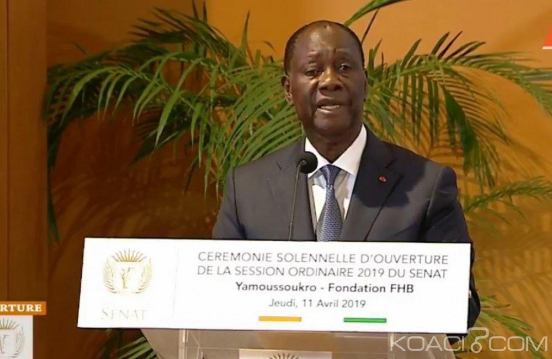 Côte d'Ivoire : Ouverture solennelle du Sénat, Ouattara réitère son engagement à transférer la capitale politique à Yamoussoukro