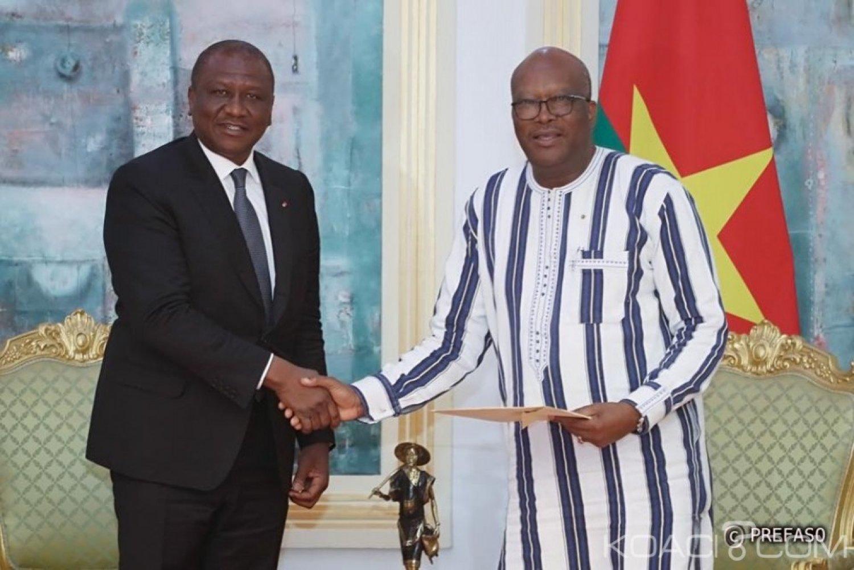 Burkina Faso-Côte d'Ivoire : Sécurité,  le ministre Hamed Bakayoko échange avec le président Kaboré