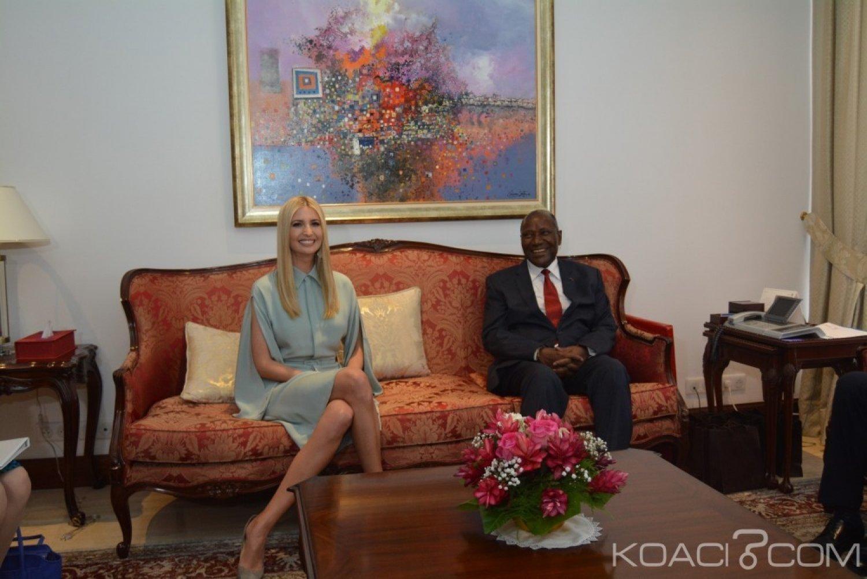 Côte d'Ivoire-USA: Promotion de la femme, bonne gouvernance et présidentielle de 2020 au menu des échanges entre Ivanka Trump et Duncan