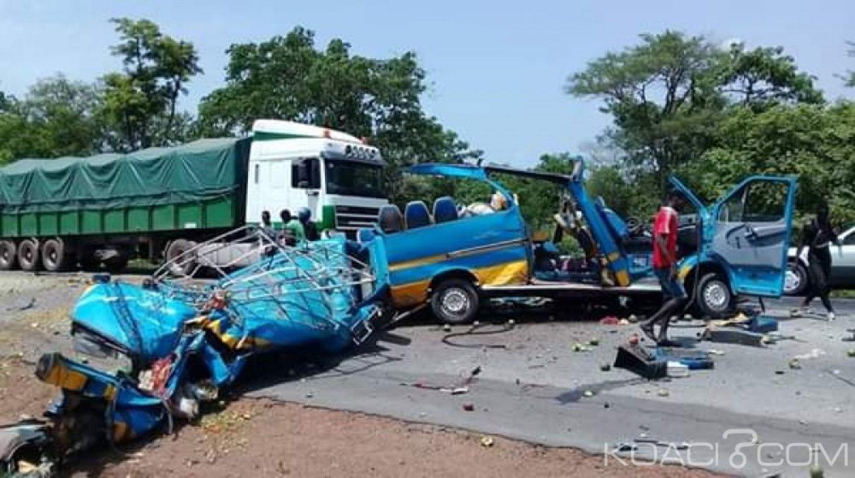 Côte d'Ivoire : Bamoro, au moins 3 morts dans une violente collision entre un Massa et un poids lourd