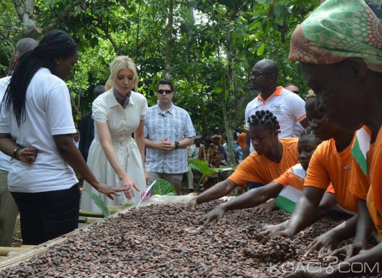 Côte d'Ivoire-USA: A Adzopé, Ivanka Trump annonce un nouveau partenariat public-privé pour les femmes dans l'industrie du cacao