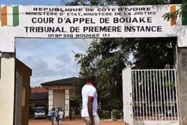 Côte d'Ivoire : Bouaké, pendant son procès au tribunal, un trafiquant de bois de vène écope de 5 mois de prison