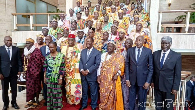 Côte d'Ivoire : Une délégation de Chefs traditionnels demandent pardon à Ouattara pour que le pays aille de l'avant en 2020 et l'interpelle sur la peur qui abrite ses compatriotes