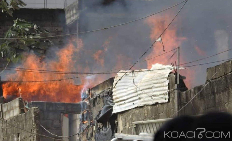 Côte d'Ivoire : Plusieurs baraques partent en feu à Cocody, aucune perte en vie humaine