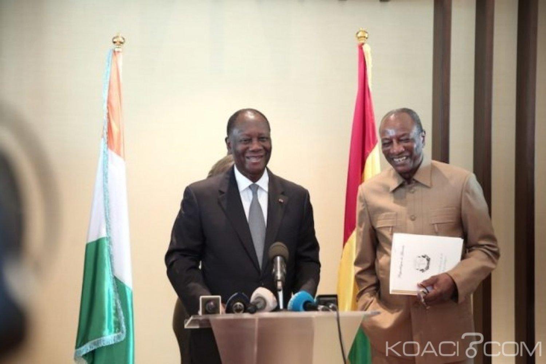 Côte d'Ivoire : Malgré les manifestations de l'opposition à Conakry, Alpha Condé effectue une visite de 48 heures à Abidjan