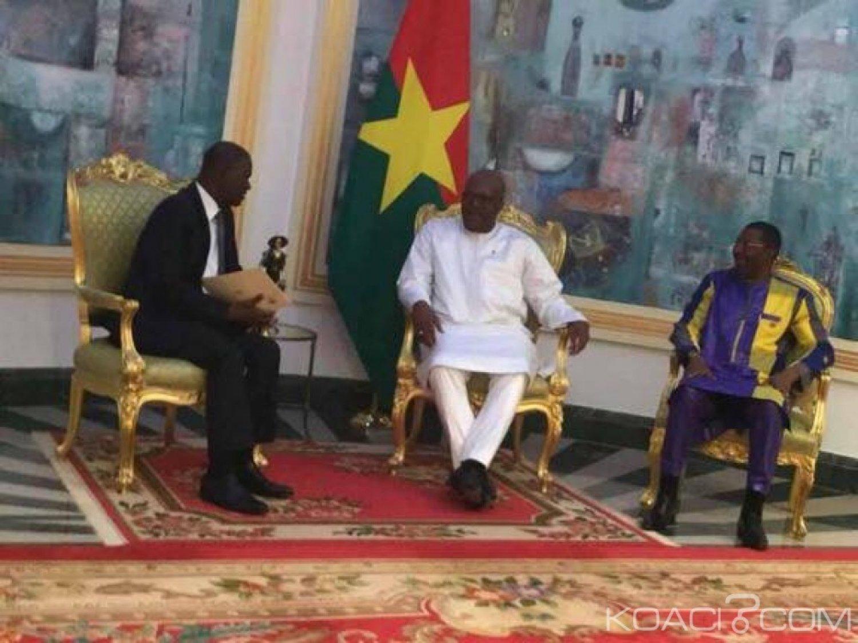 Burkina Faso-Côte d'Ivoire: Le président du parlement ivoirien chez le président kaboré