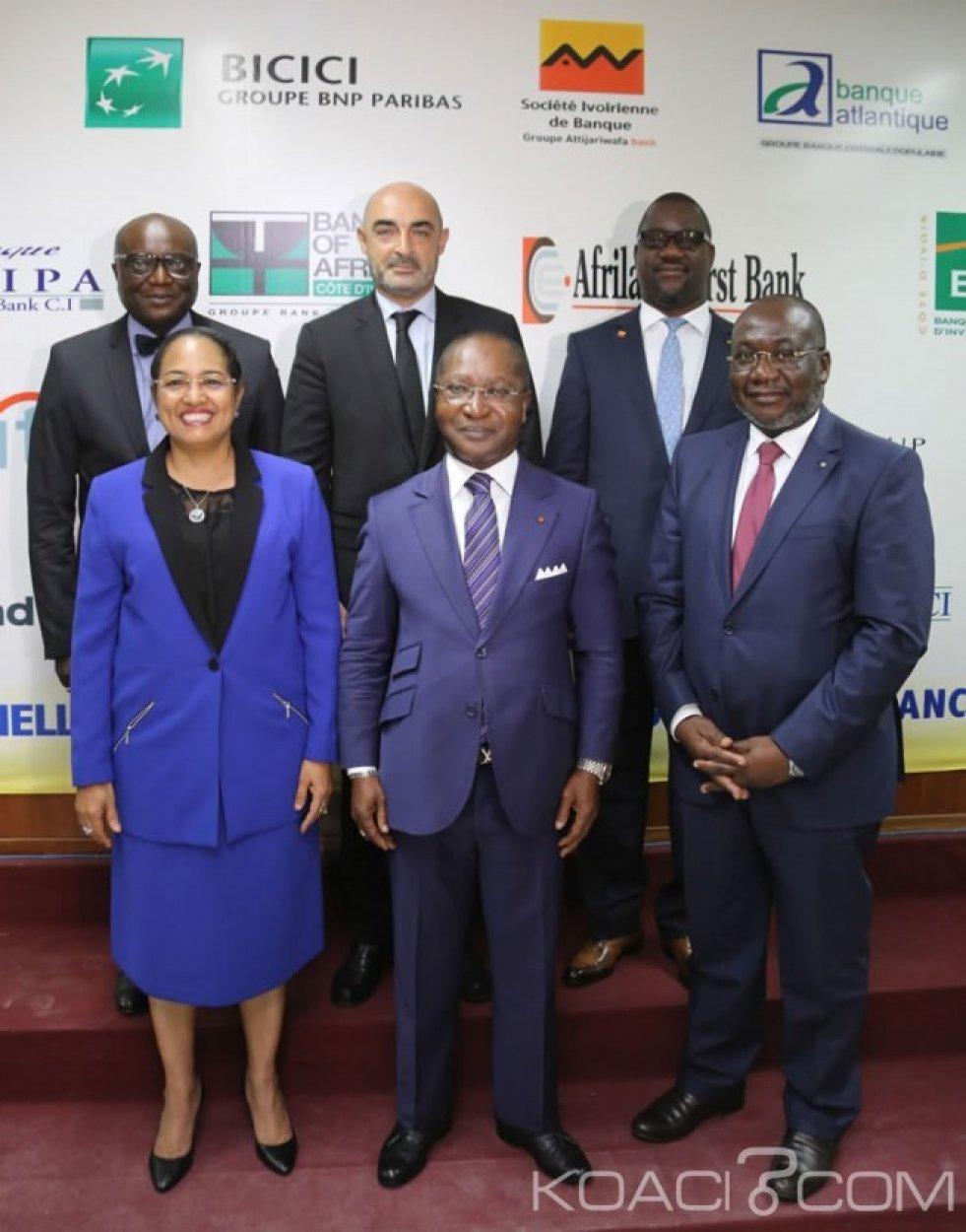 Côte d'Ivoire : Les professionnels des  banques révèlent  avoir octroyé un  crédit de 7 056 milliards en  2018, pour financer l'économie nationale