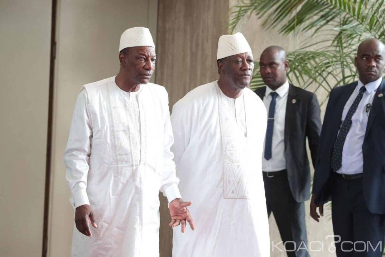 Côte d'Ivoire: Ouattara rassure Condé du déploiement prochain de 650 soldats ivoiriens au sein de la MINUSMA au Mali