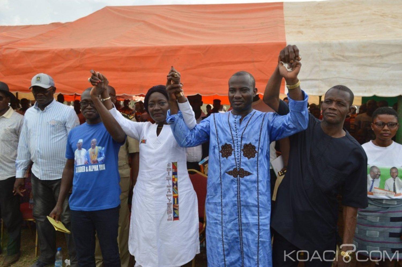 Côte d'Ivoire : Depuis Gbon, Mariatou en compagnie d'Alpha Yaya appelle à l'union et la paix entre cadres de la localité