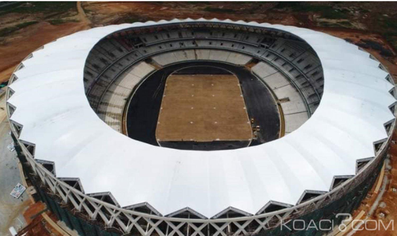 Côte d'Ivoire : CAN 2023, les travaux du  stade Olympique d'Ebimpé avancent à grand pas