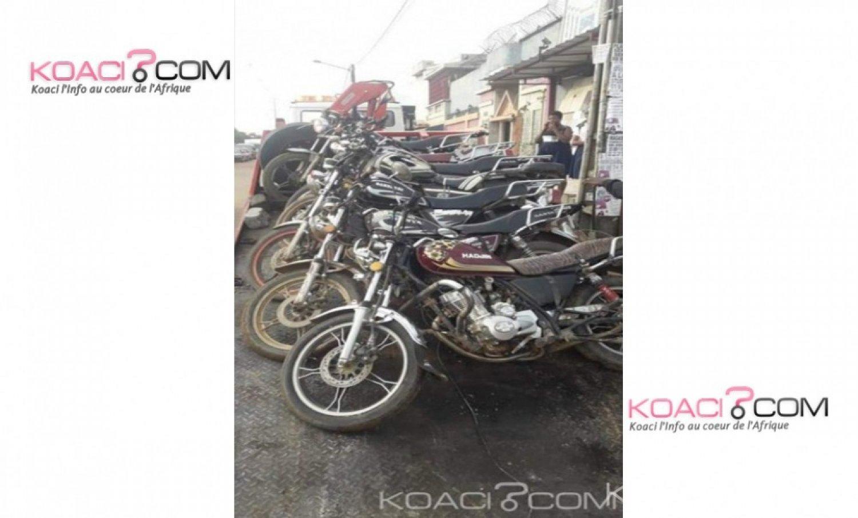 Côte d'Ivoire: Transport illégal à Cocody, la police intercepte 07 motos