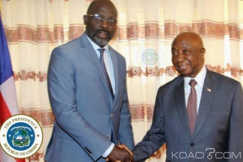 Liberia : Weah s'entretient avec Boakai sur des problèmes nationaux avant le 07 juin