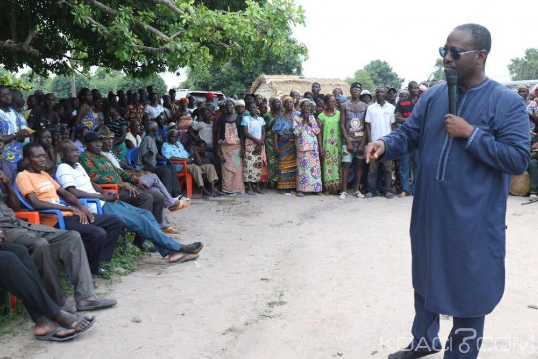 Côte d'Ivoire : Niakara,  Guillaume Soro dans s le village natal de Justin Katinan Koné, promet une ambulance à la population