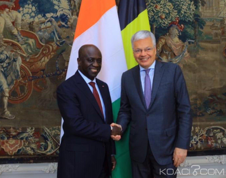 Côte d'Ivoire : Sommet des Affaires Afrique-UE, Amon Tanoh évoque la transformation sur place des produits ivoiriens avec son homologue Belge