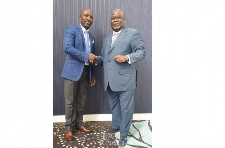 Côte d'Ivoire : L'ambassadeur  Koudou Kessié reçu par Blé Goudé à la Haye