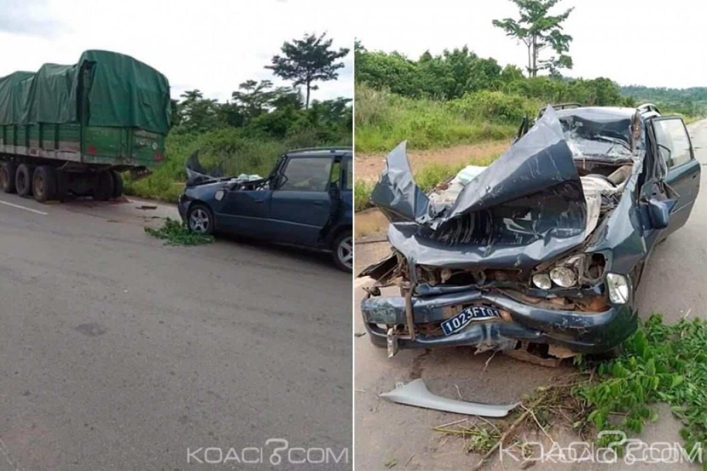 Côte d'Ivoire: Après avoir percuté un gros camion sur l'axe Abengourou-Agnibilékro, 3 personnes dont 2 pasteurs tués dans leur véhicule