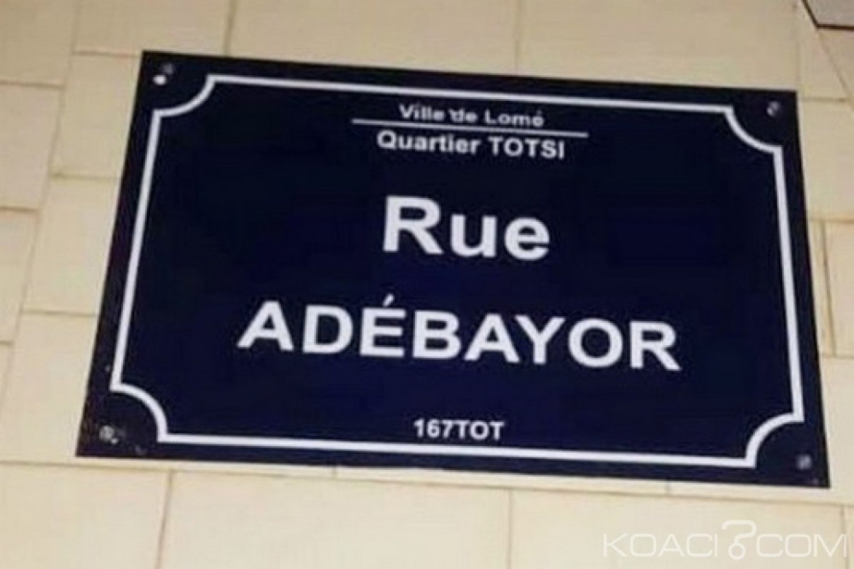Togo : Adressage, « Rue Adebayor » à Lomé
