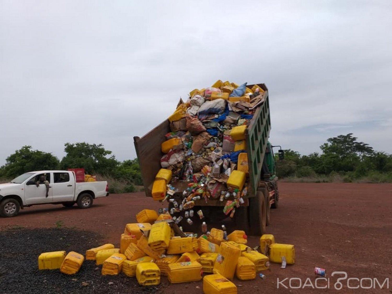 Côte d'Ivoire : À Katiola, 4,3 tonnes de produits périmés saisis et instruments de mesure hors d'usages détruits