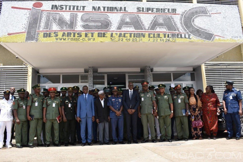 Côte d'Ivoire : Coopération culturelle, des officiers des pays Africains découvrent l'Insaac