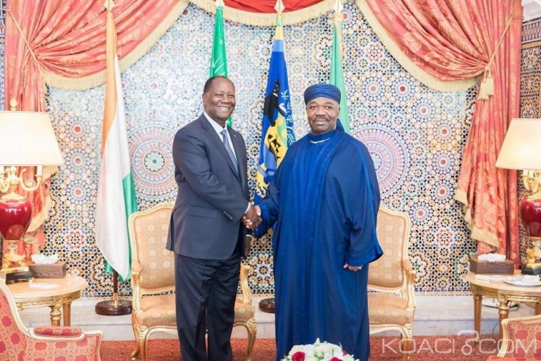 Côte d'Ivoire-Gabon: Ouattara retrouve Bongo à Libreville après son accident de santé «il a bien récupéré» mais n'a pas pu l'accueillir à l'aéroport