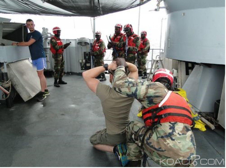 Côte d'Ivoire : Explications de l'Etat-major français sur l'exercice du Patrouilleur « LV Le Hénaff »  lors de l'African Nemo à Abidjan