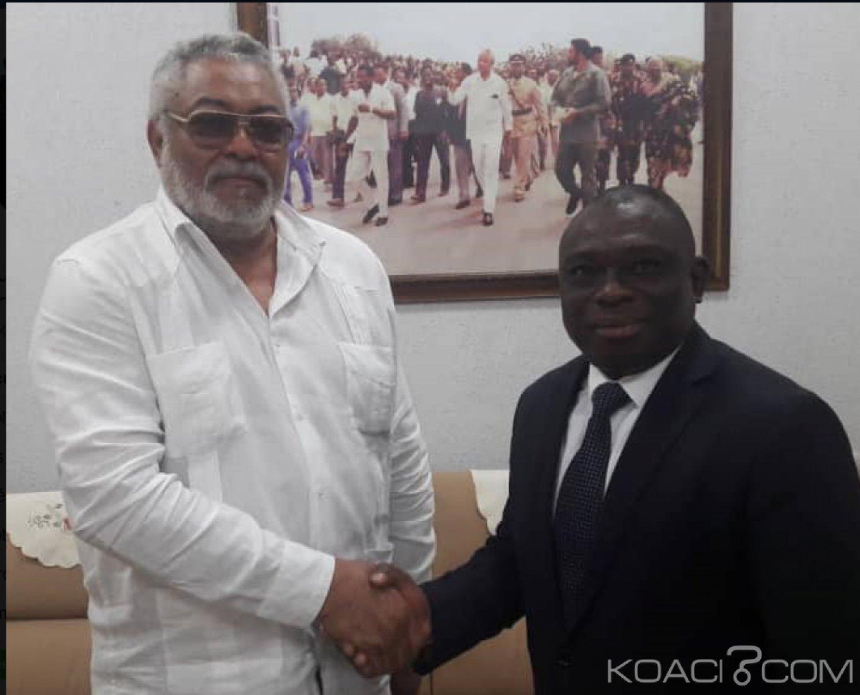 Côte d'Ivoire-Ghana: KKB sollicite Jerry Rawlings à Accra pour son implication dans le processus de la réconciliation