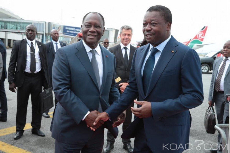 Côte d'Ivoire-Togo : Faure Gnassingbé à Abidjan dans le cadre d'une visite d'amitié et de travail