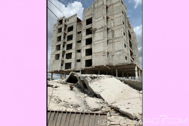 Côte d'Ivoire : Les causes  de l'effondrement d'un immeuble en construction le week-end dernier à Angré