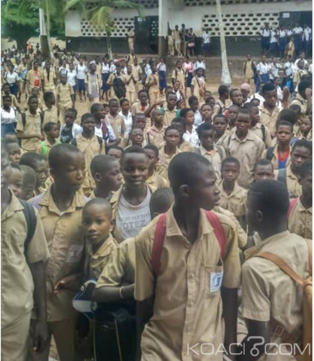 Côte d'Ivoire : A Lakota, les élèves manifestent pour réclamer leurs copies aux enseignants