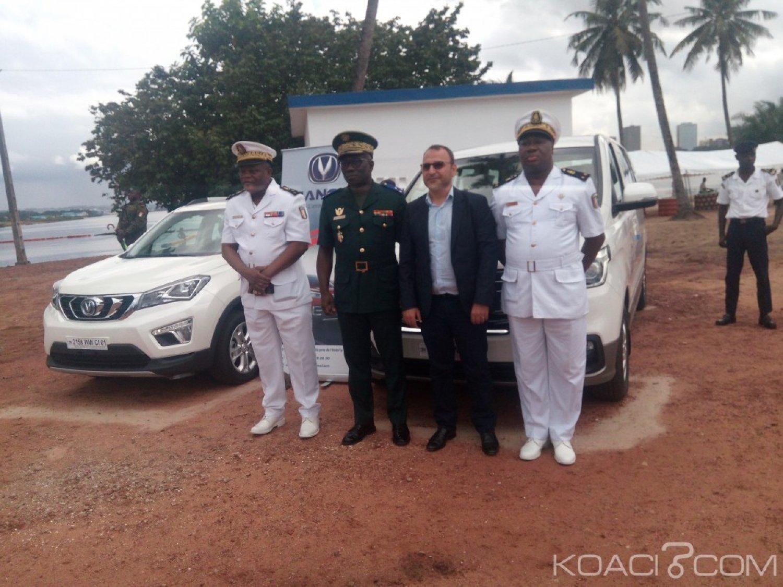 Côte d'Ivoire: La marine nationale reçoit quatre véhicules d'une entreprise privée