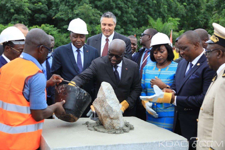 Côte d'Ivoire : Amadou Gon pose la première pierre du nouveau CHR d'Aboisso d'un coût de 29 milliards de FCFA pour une durée de réalisation de 16 mois