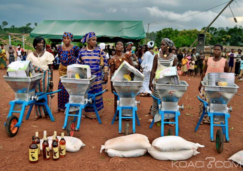 Côte d'Ivoire : A Lakota, l'autonomie de la femme encouragée, Princia Dabé Lohoré aux côtés des mamans de Dahiri