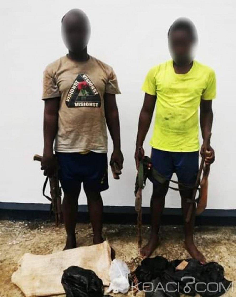 Côte d'Ivoire : Korhogo, interpellés, des coupeurs de route pris avec un arsenal