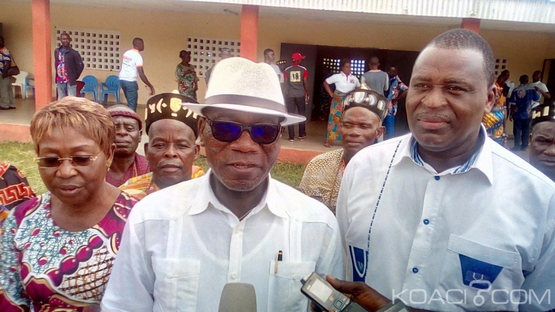 Côte d'Ivoire : Diabo, en face des chefs et cantons aux côtés du DG du trésor, Abonouan lance, «nous n'avons plus peur de dire que nous sommes RHDP...»