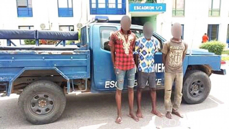Côte d'Ivoire: À Bouaké, 3 coupeurs de route appréhendés par la gendarmerie