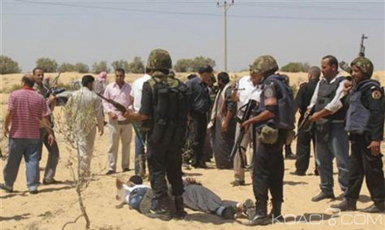 Egypte:   Sinaï,14 terroristes présumés tués au Sinaï au lendemain d'un attentat revendiqué par Daech