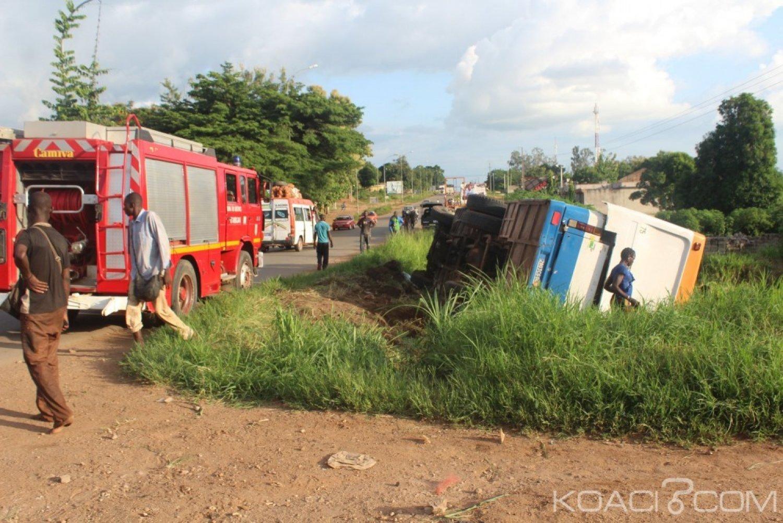 Côte d'Ivoire : En provenance du Burkina, à Bouaké, un car de transport fini sa course dans un ravin avec ses 90 passagers, des blessés