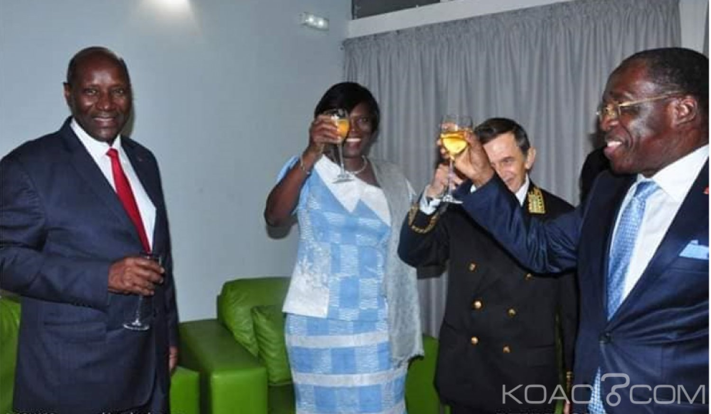 Côte d'Ivoire : Simone et Assoa Adou aux côtés des membres du gouvernement à la célébration de la fête nationale Russe
