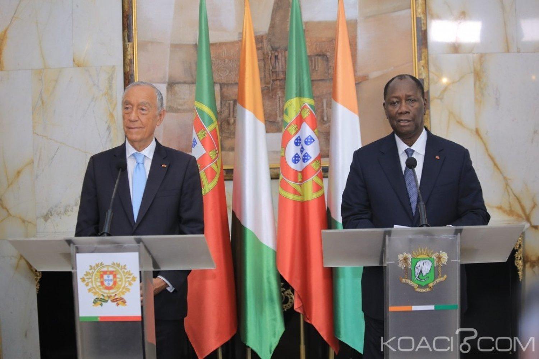 Côte d'Ivoire-Portugal :  Aux côtés de Rebelo de Souza, Ouattara annonce le renforcement de la coopération entre les deux pays