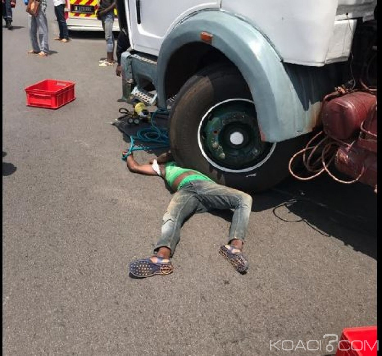 Côte d'Ivoire : Un camion remorque  percute un cycliste et le tue sur l'autoroute du nord