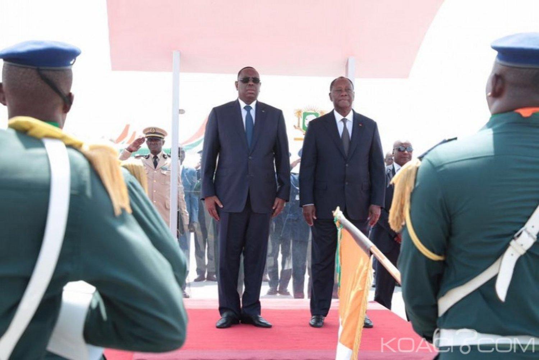 Côte d'Ivoire-Sénégal:   Macky Sall et Alassane Ouattara insistent sur la nécessité de leurs deux pays pour coordonner le combat contre le terrorisme