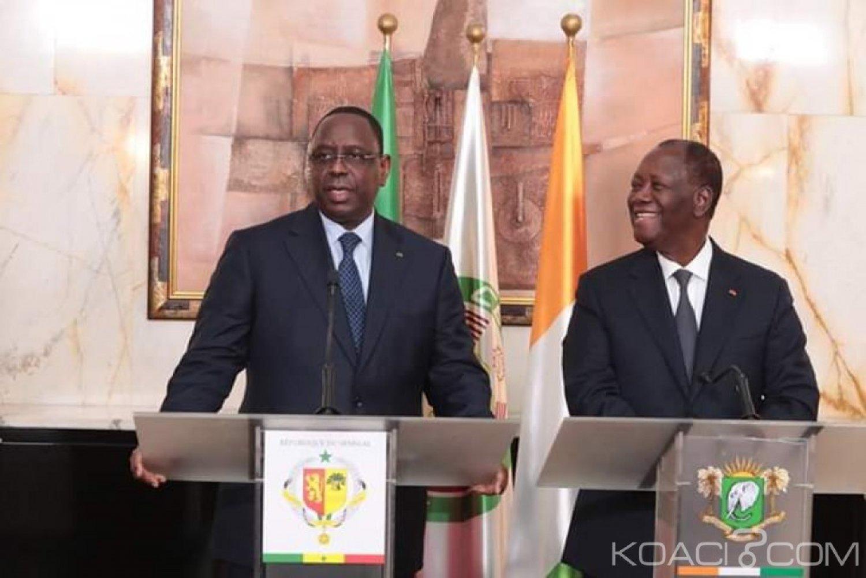 Côte d'Ivoire : A Abidjan, Macky Sall à propos du président ivoirien «J'ai beaucoup de respect, d'affection et de considération pour le président Ouattara»
