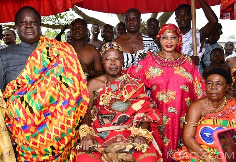Côte d'Ivoire : Mme Ehui qui a rejoint le RHDP révèle que Bédié  avait demandé en sourdine le soutien du Roi des Ashantis pour 2020 lors de son voyage au Ghana