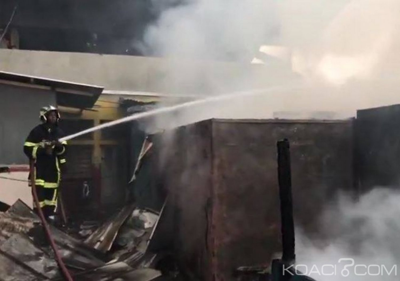Côte d'Ivoire : Un incendie déclaré au marché de Port Bouët centre vite maîtrisé avec l'aide des militaires français